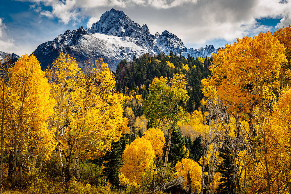 Fall in the San Juan Range, southwestern Colorado.
