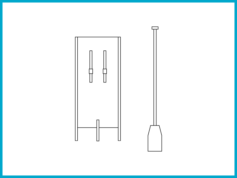 いかだ(4号) - スタイロフォームとベニヤ板を使った簡易いかだ。川を移動できる。改造可能。背負える。