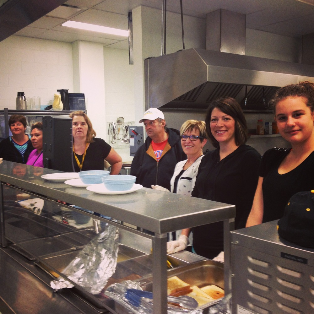 Heather, Cindy, Don, Helen, Miranda and Teah are are ready to serve lunch at the Lighthouse