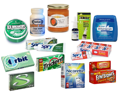 Just some of the many products containing xylitol.