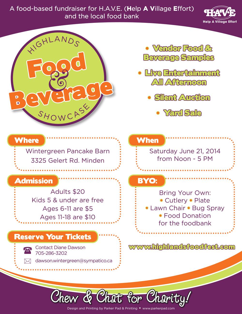 Highlands Food & Beverage Showcase