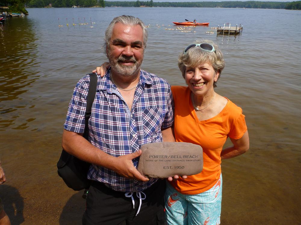 engraved river rock