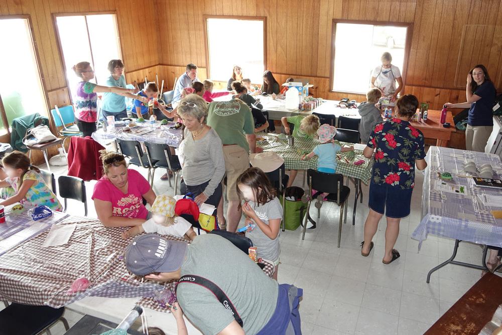 crowd at craft workshop