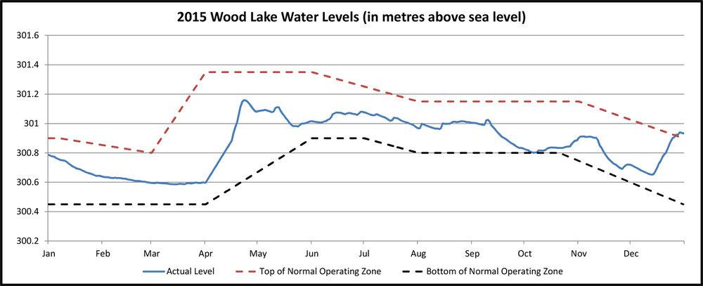 2015 Wood Lake Water Levels