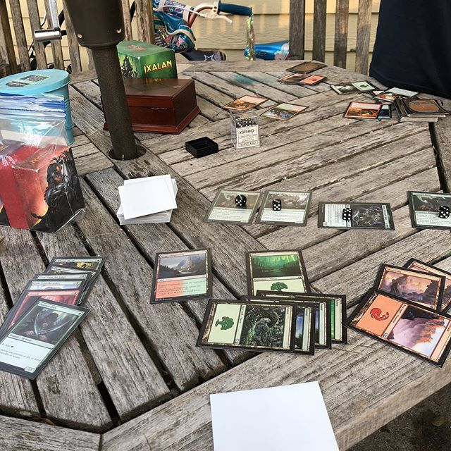Wednesday night back yard magic! #mtg #wizardsofthecoast #magicthegathering
