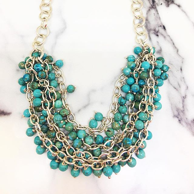 Havana Ou-la-la statement necklace // available on our @etsy shop link in bio // #veryvalero #turquoise #statementjewelry #statementnecklace #turquoisejewelry #statementart #colourpop #colorobsessed #etsylove #etsyjewelry #etsytoronto #etsyhandmade #yyz #oakville #tropical #instalove #instagood #instastatement #instalike #instamoment #instalife #beachlife #resortlook #pursuepretty #livecolorfully #pretty #very