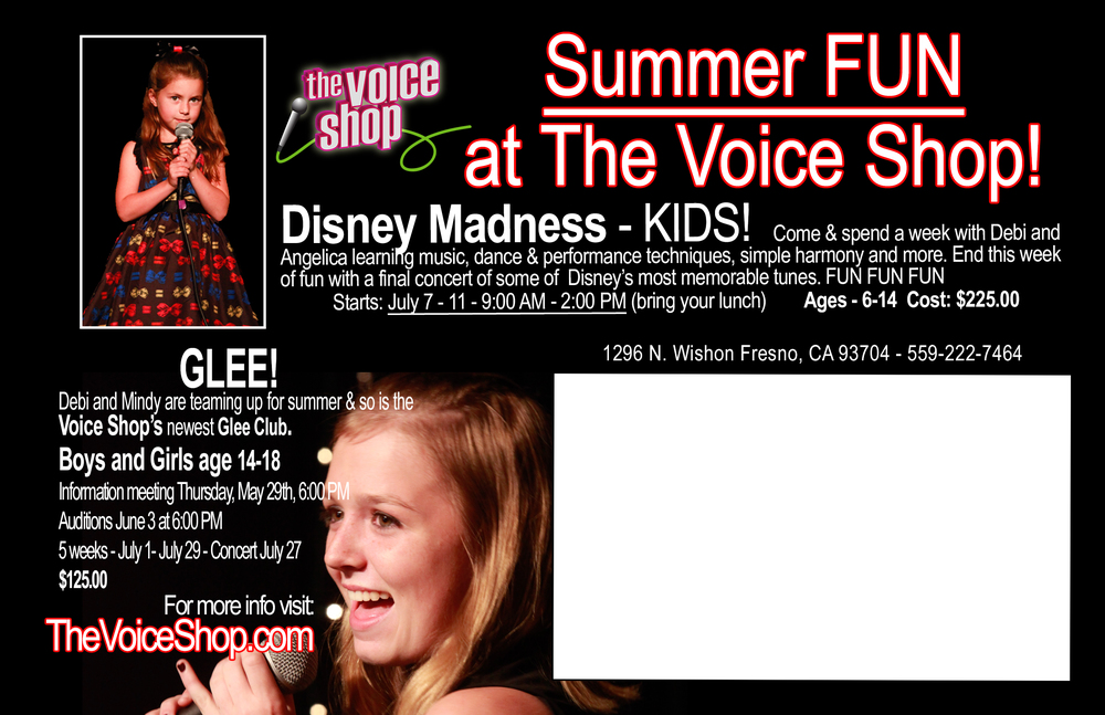 SUMMER AT THE VOICE SHOP MUSIC ACADEMY