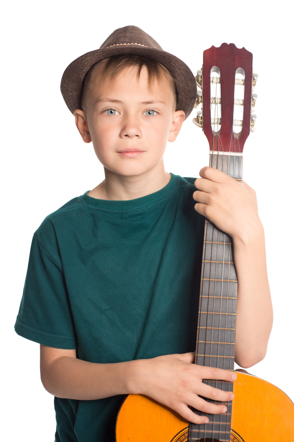 Portrait of a boy with a guitar