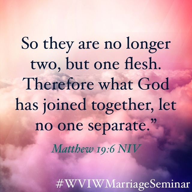 Let no one Separate    Matthew 19:6 NIV