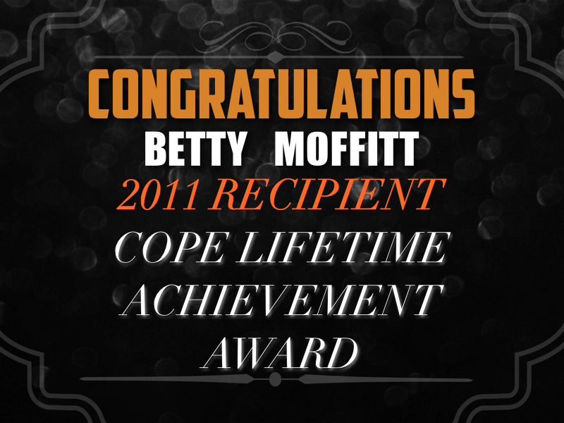 Congratulations to Betty Moffitt for her award