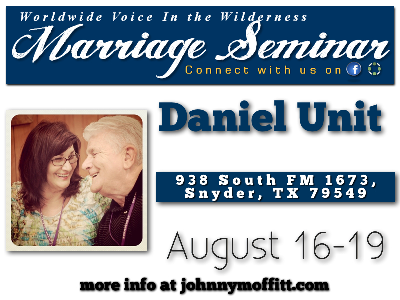 WVIW Marriage Seminar at Daniel Unit   We strive to make every one of our  Marriage Seminars  the most blessed and life changing events you will ever attend. From the  3 days of uninterrupted time with your spouse , to the  incredible true life stories , every second of the weekend is filled with a huge measure of grace and life change.    View a VIDEO about WVIW Marriage Seminars