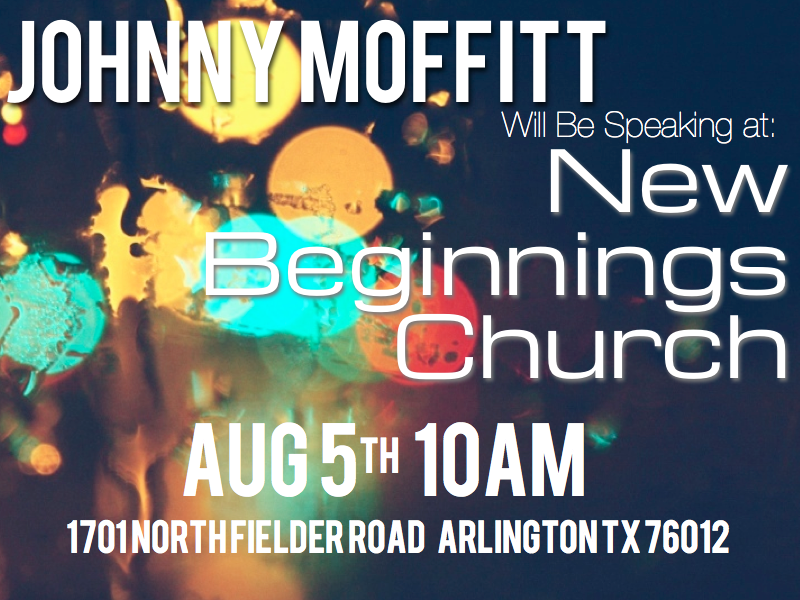 New Beginnings Church  New Beginnings Church August 5th at 10 am in Arlington