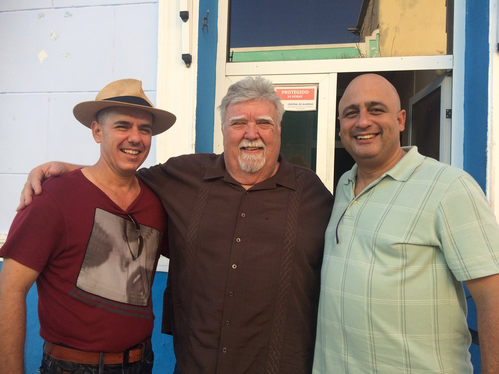 Johnny with host, Alexander and translator, Juan.JPG