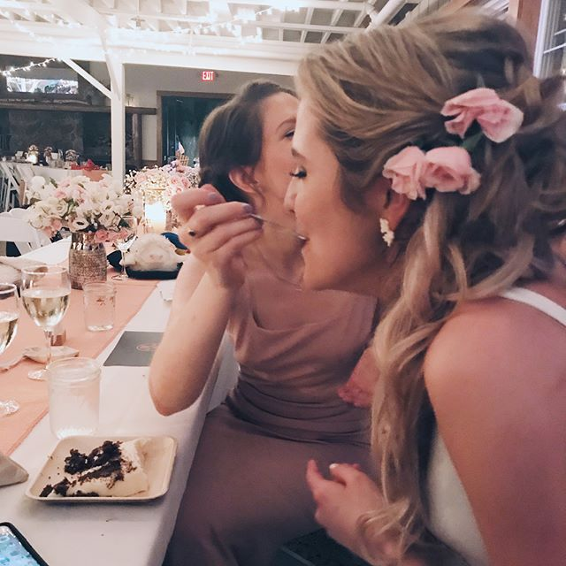 Really enjoy that the only photos I have of us together from this weekend are of us feeding each other cake. Love you so much @maggie.made.this!! Photo cred to your HUSBAND #willismaineevent