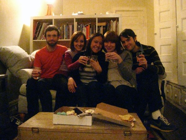 Our temporary sublet in Bushwick, Brooklyn in 2009 - celebrating Cassie's birthday