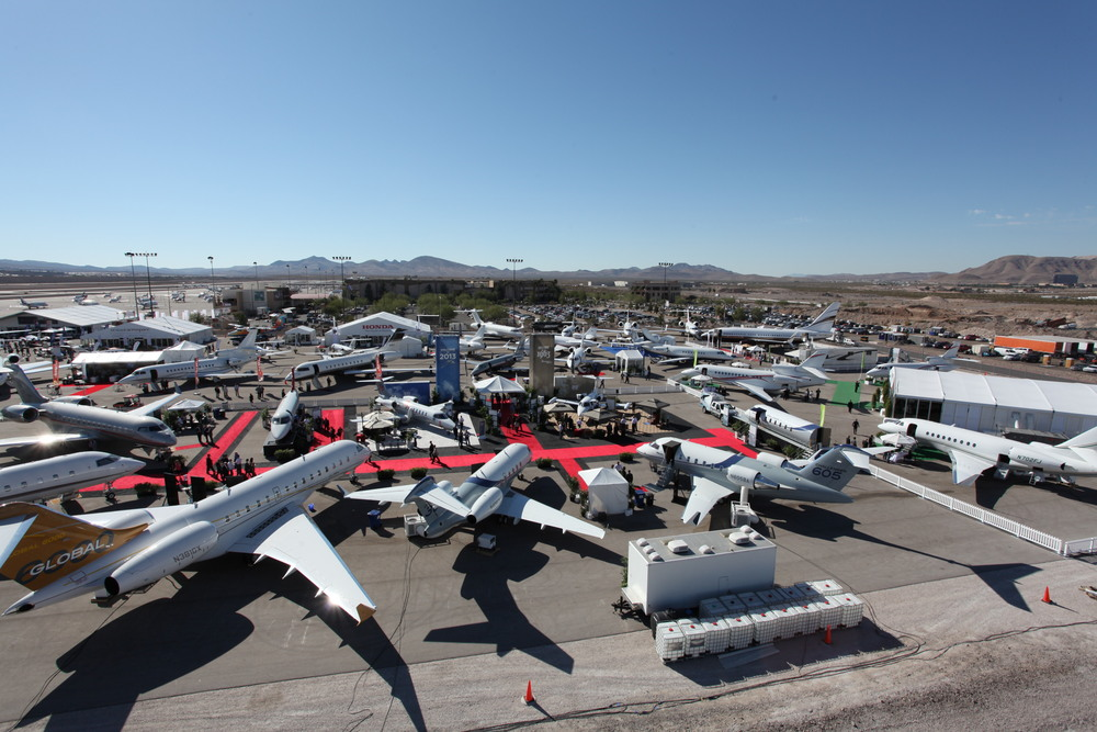 The NBAA Business Aviation Convention and Exhibition static display features some of the most cutting edge aircraft in the industry.