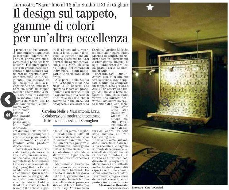 Il Design sul tappeto, gamme di colori per un'altra eccellenza