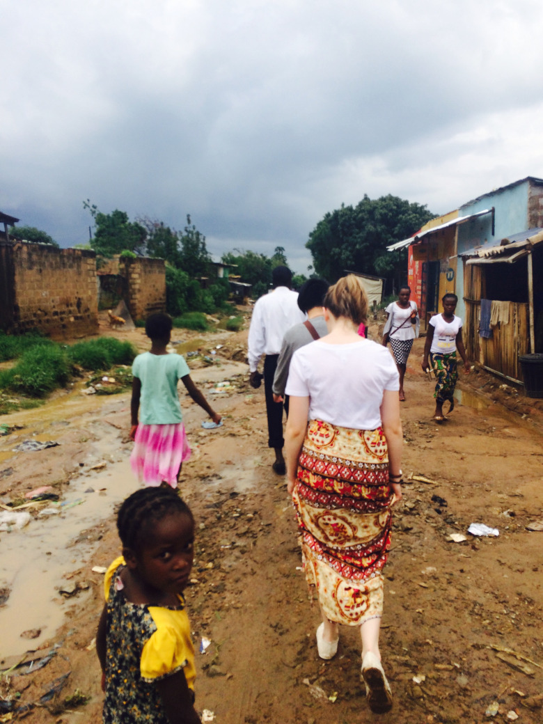 Waking through a local neighborhood in Lusaka.