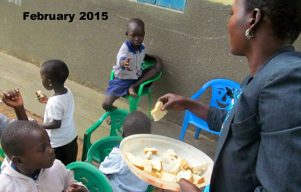 Children are grateful for the meal they receive at school.
