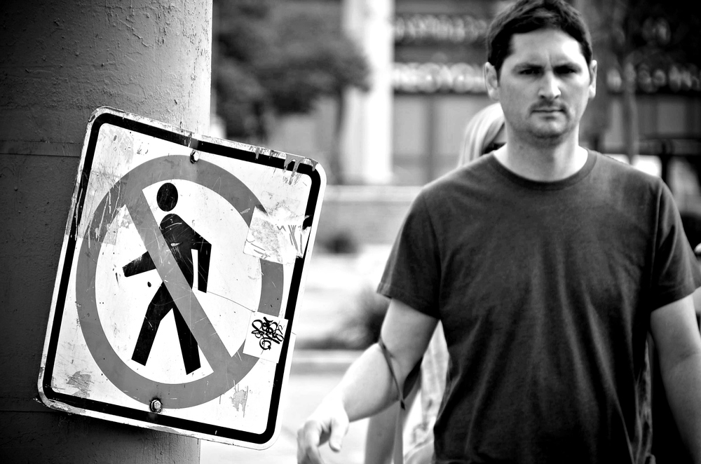 No pedestrians?