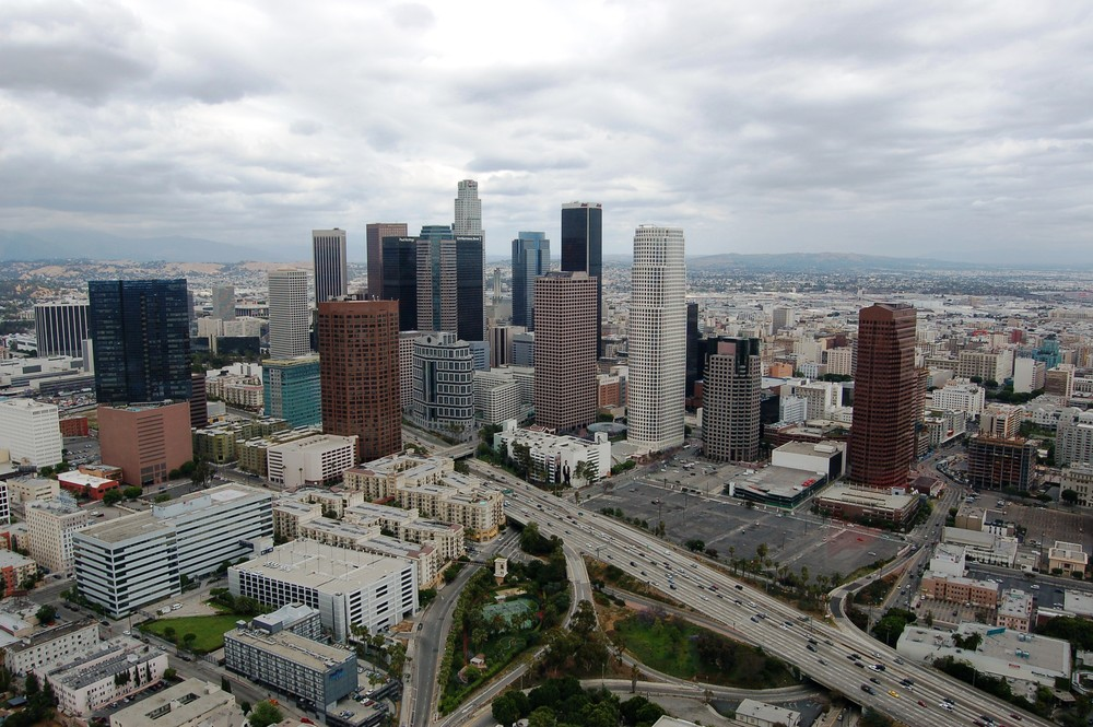 My aerial photo was the basis for the title slide on NBC's  Law & Order: Los Angeles