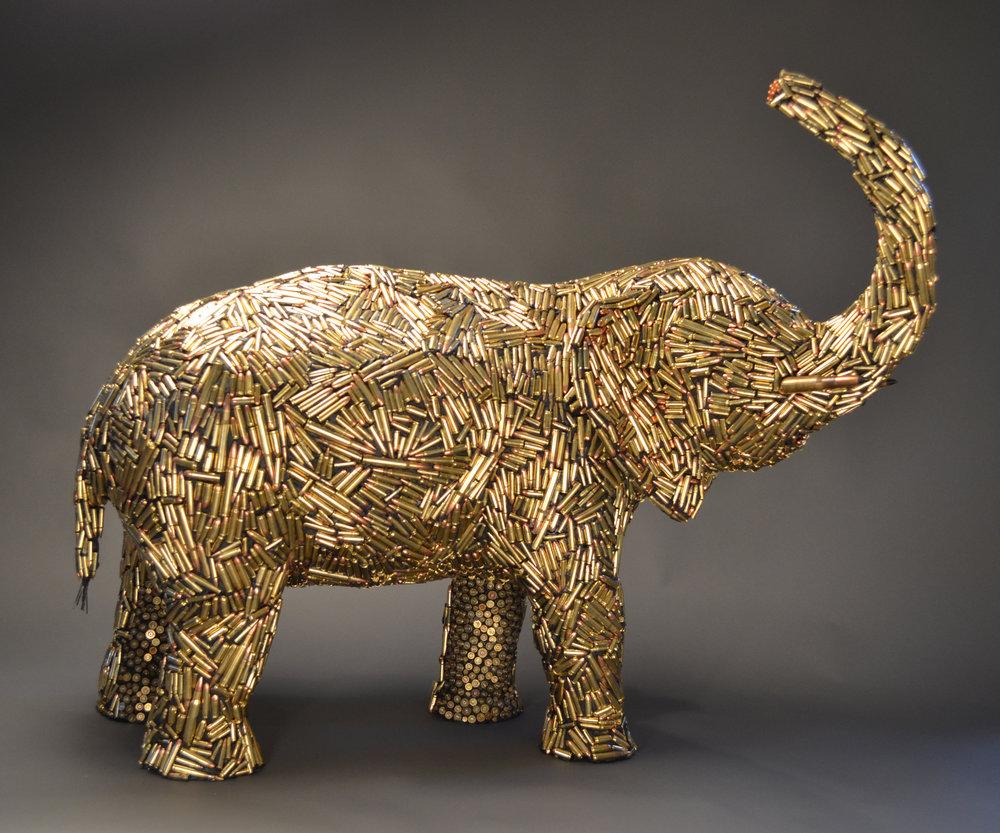 """Bullet Elephant 31""""x37""""x15"""""""