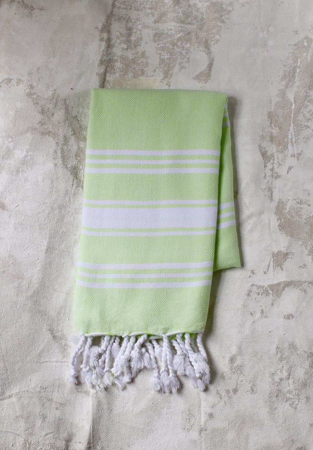 Peskir - Classic Stripe - pistachio - $22
