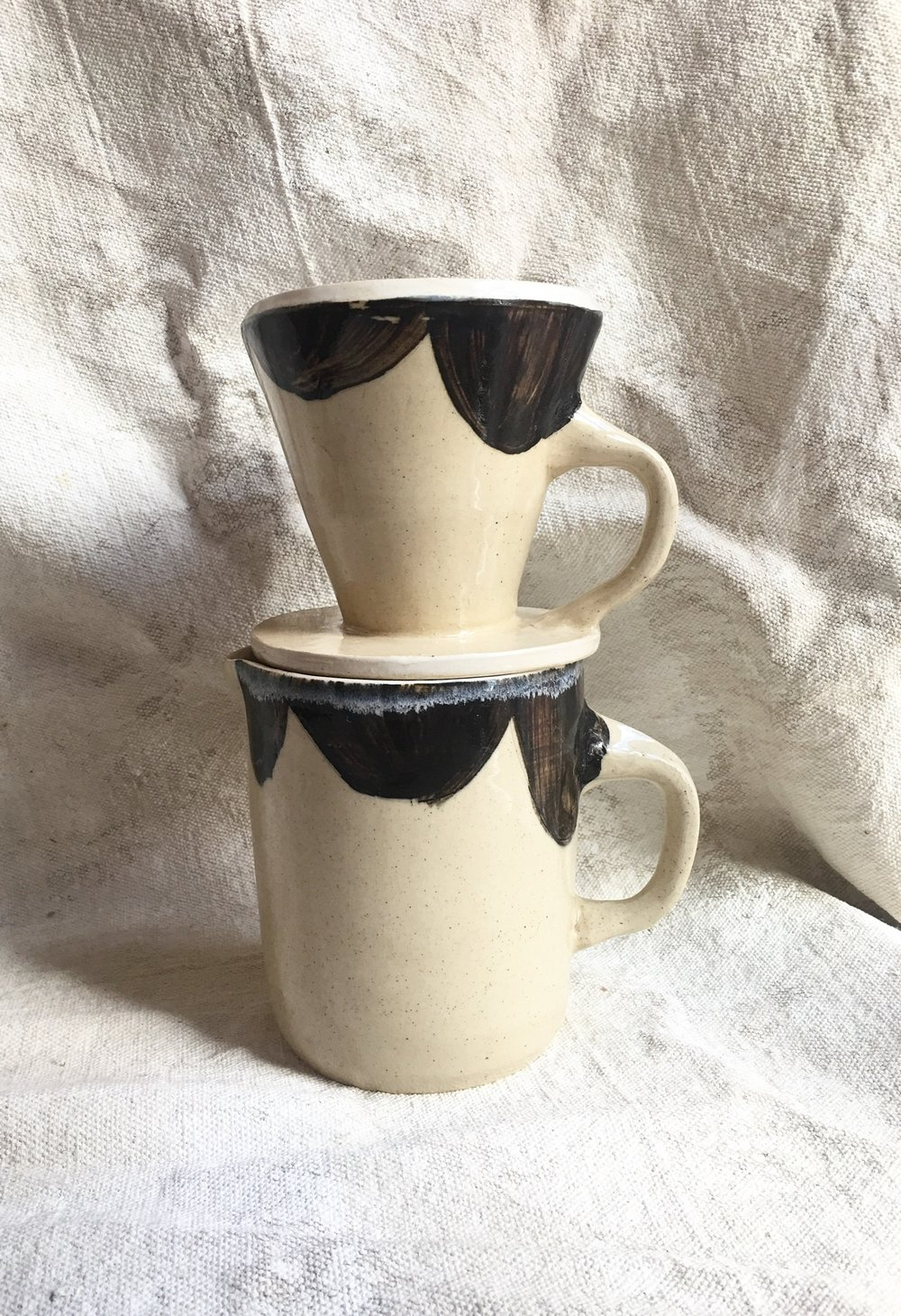 Stoneware Pour-over Coffee maker $65