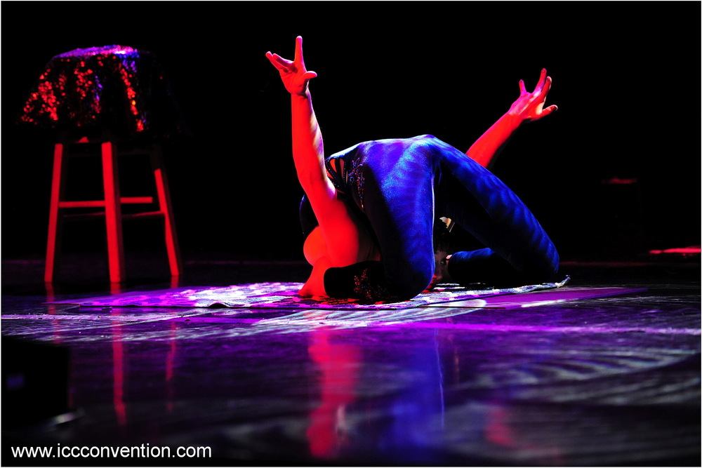 Performing at the International Contortion Convention in LasVegas, April 05, 2016