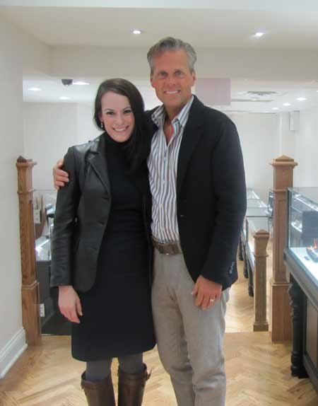 Lisa Jungers, GS jeweler and David Oscarson