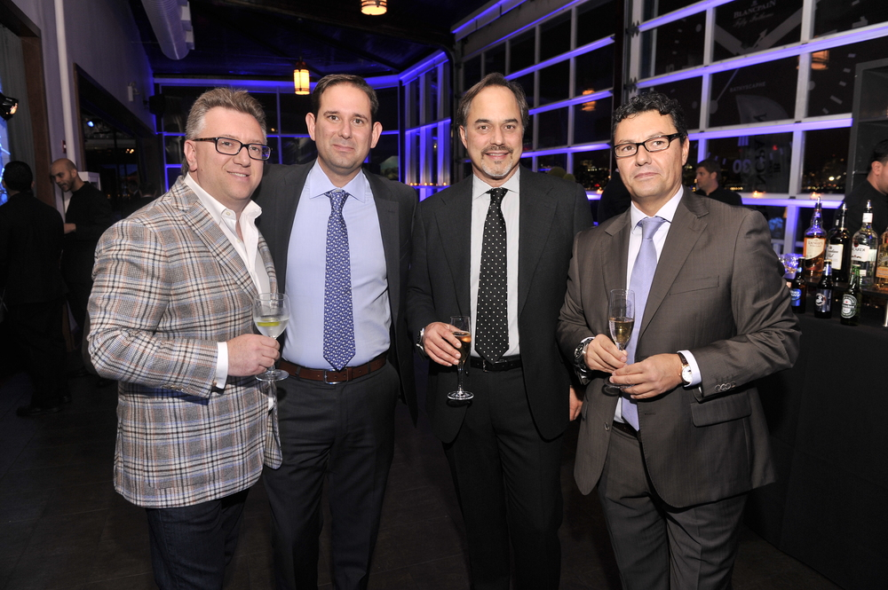 Alex Kats, Mr. Enrique Cupello, Blancpain East Coast Sales Manager, Mr. Frank Furlan, President of Swatch Group U.S., Mr. Antonio Lopez, Vice-President of Blancpain Worldwide
