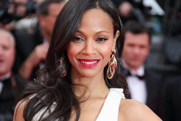 Zoe Saldana is glowing in Di Grisogono jewelry.