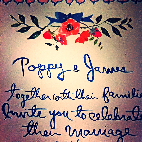 The simple invites were beautiful, with no other than poppy flowers to add a little design.