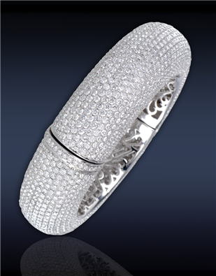 Grande Melange White Gold Bangle 90713067