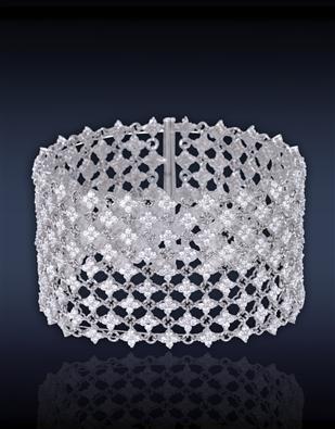 Diamond Mesh Cuff Bracelet 91019600