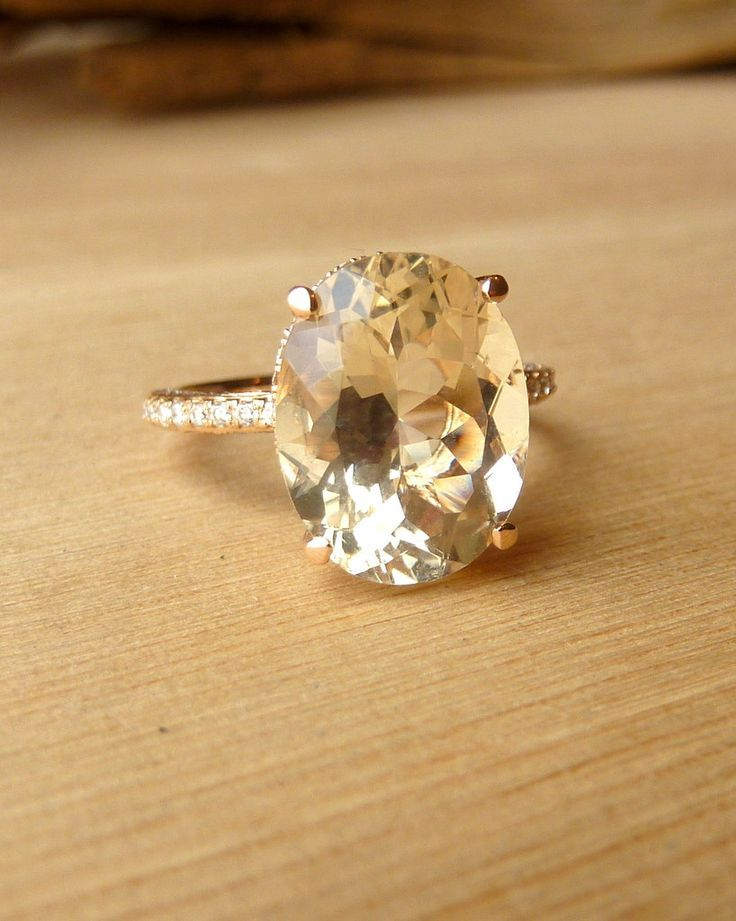 Oregon Sunstone and Diamond Ring.