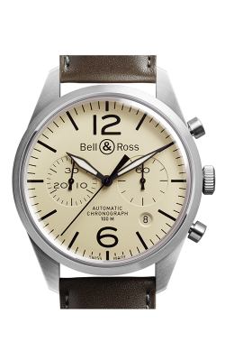 Bell and Ross Vintage BR Chronograph Watch BR126 Original Beige   CALL US: 312-944-3100