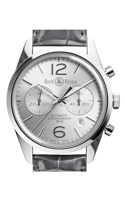 Bell and Ross Vintage BR Chronograph Watch  BR126 Officer Silver   CALL US: 312-944-3100