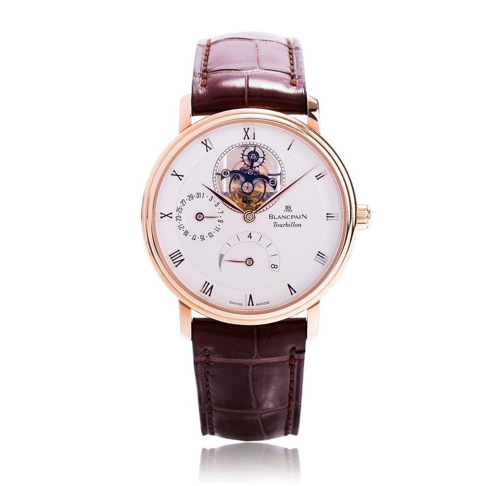 Villeret Tourbillon  Blancpain Watch   Reference: 6025-3642-55B   CALL US: 312-944-3100