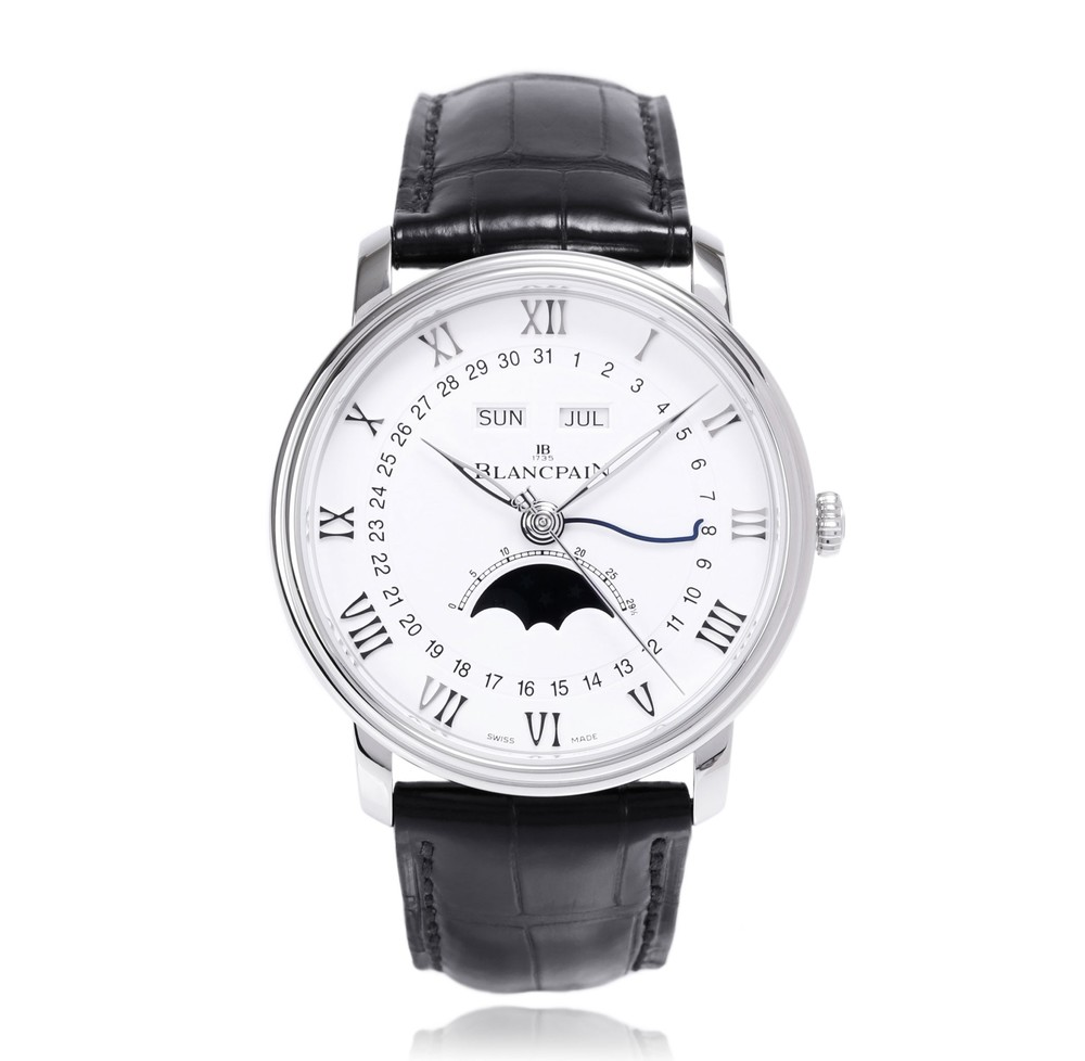 Villeret Complete Calendar Moon-Phases  Blancpain Watch   Reference: 6654-1127-55B   CALL US: 312-944-3100