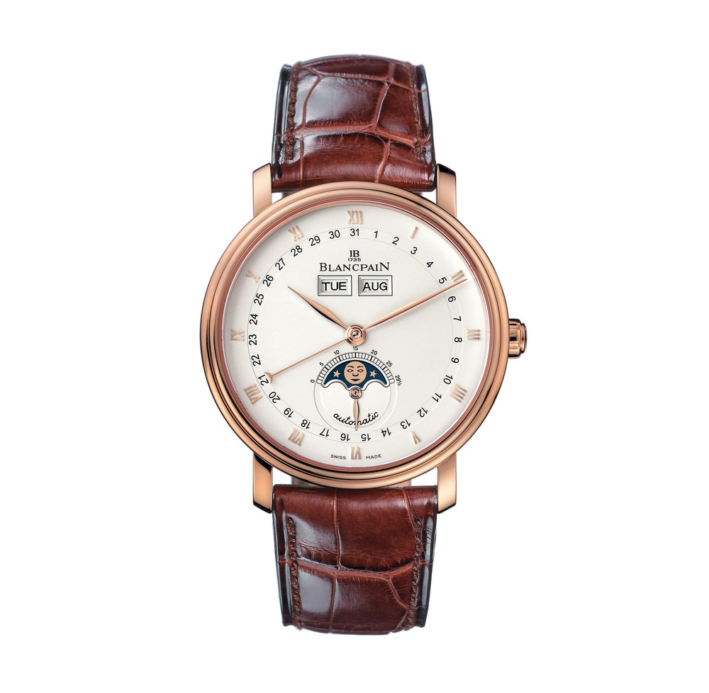 Villeret Moon-Phase Automatic  Blancpain Watch   Reference: 6263-3642-55   CALL US: 312-944-3100