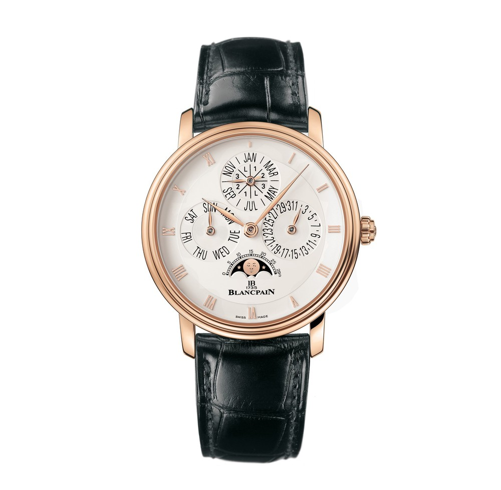 Villeret Perpetual Calendar  Blancpain Watch   Reference: 6057-3642-55   CALL US: 312-944-3100