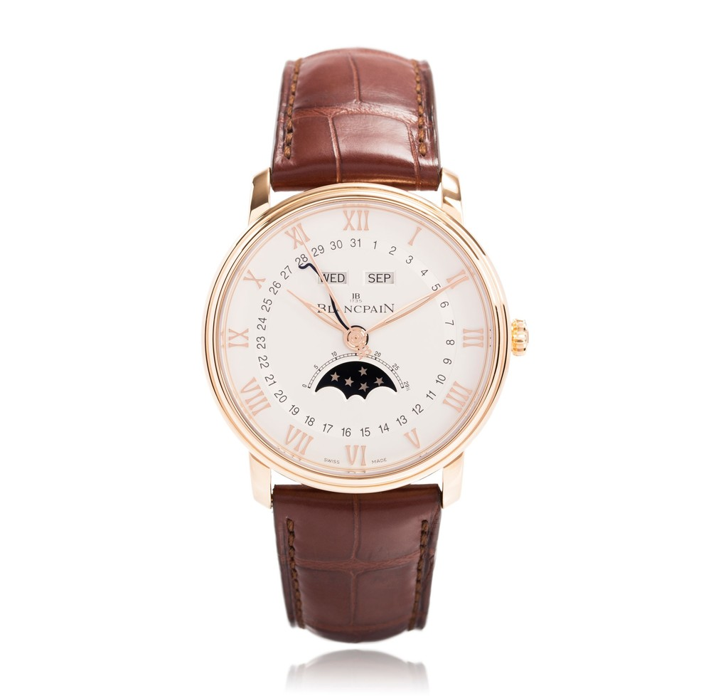 Villeret 'Phase de Lune Demi-Savonnette'  Blancpain Watch   Reference: 6664-3642-55B   CALL US: 312-944-3100