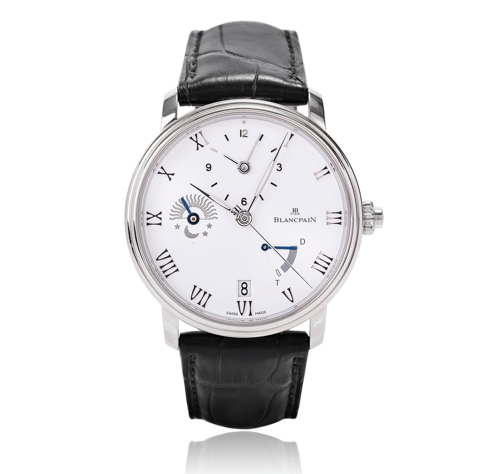 Villeret Half-Timezone GMT  Blancpain Watch   Reference: 6660-1127-55B   CALL US: 312-944-3100