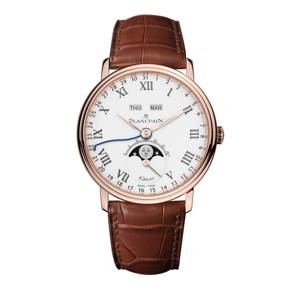 Villeret Complete Calendar '8 Jours'  Blancpain Watch   Reference: 6639-3631-55B   CALL US: 312-944-3100