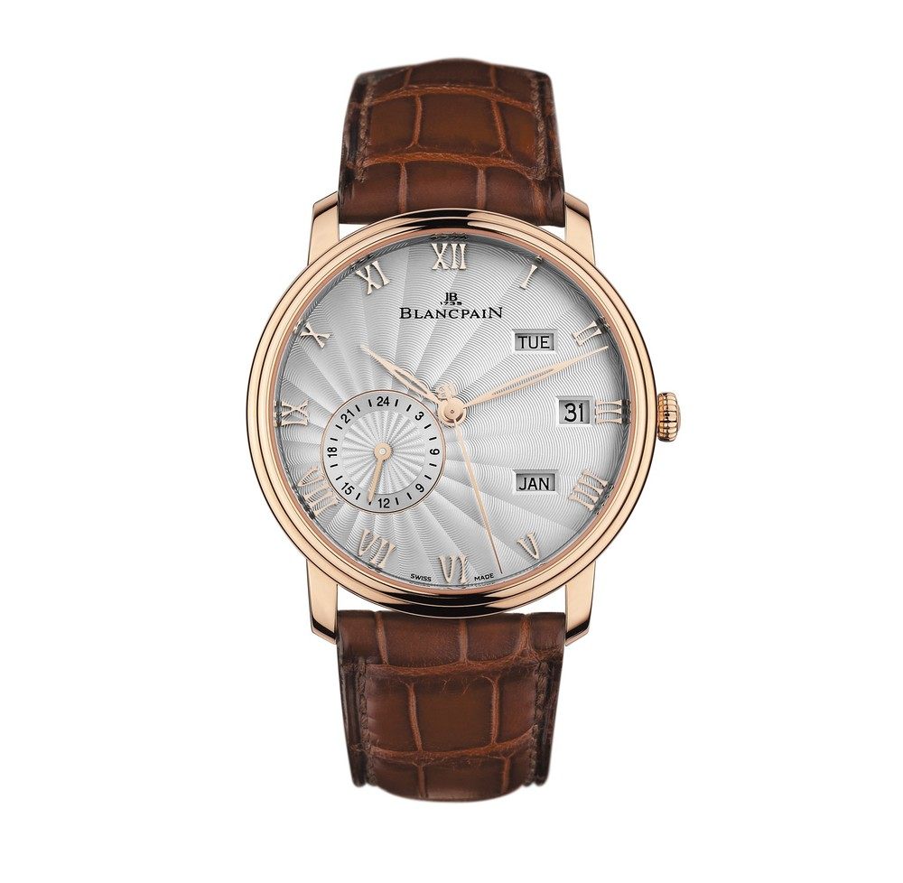 Villeret Annual Calendar GMT  Blancpain Watch   Reference: 6670-3642-55B   CALL US: 312-944-3100