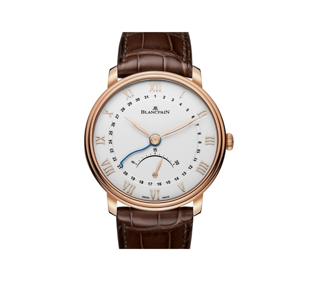 Villeret Retrograde Small Seconds  Blancpain Watch   Reference: 6653Q-3642-55B   CALL US: 312-944-3100