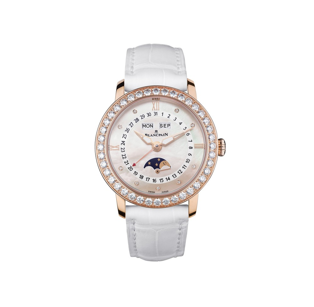 Women Complete Calendar Moon-Phases  Blancpain Watch   Reference: 3663-2954-55B   CALL US: 312-944-3100