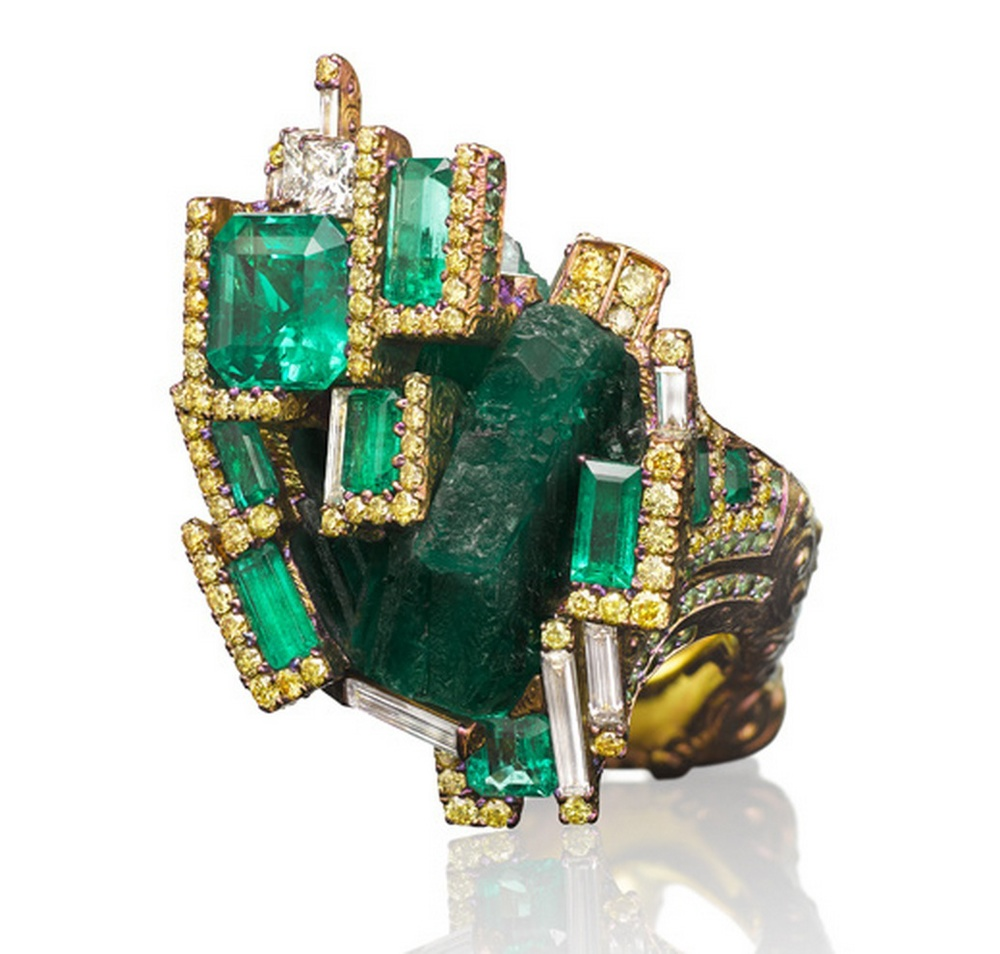 Wallace Chan Emerald Castle ring.