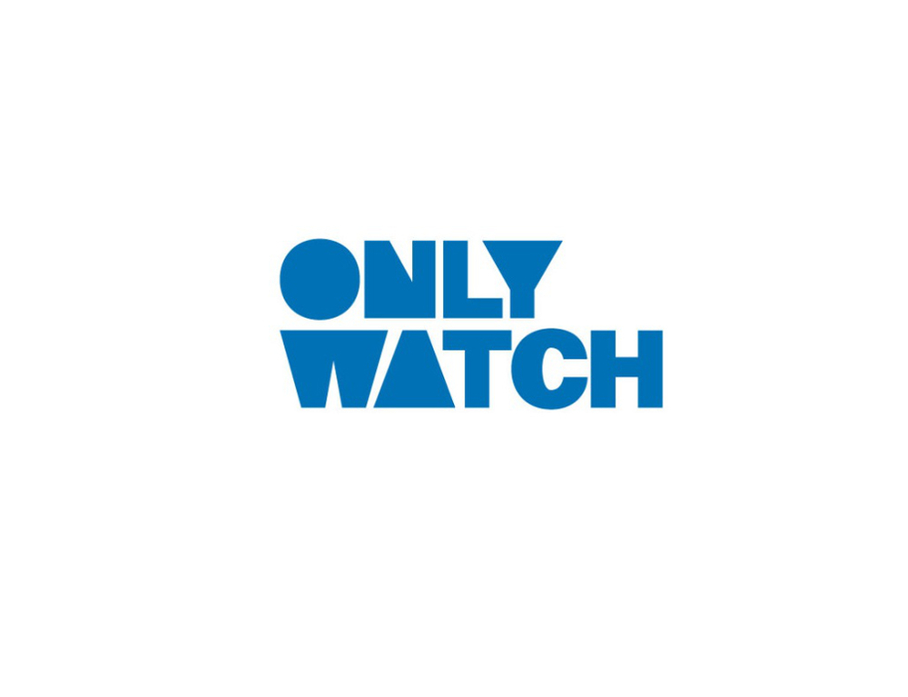 The logo of Only Watch Charity Auction which can be found on the dial of Hublot Classic Fusion Only Watch Britto.